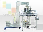 Multi head weighing, filling and packing machine