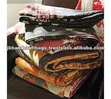 vintage sari quilt throws
