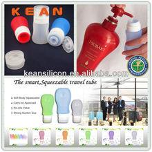 Car Air Freshener Bottle/Popular TSA Approved Silicone Travel Tube Mini Bottle Holiday