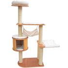 New Deluxe 60 Pawhut Cat Tree Furniture Condo Kitty House Scratcher - Cream