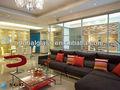 alta qualidade de vidro temperado simples decorar sala de estar