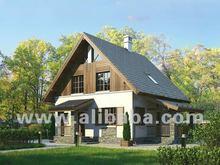 Prefab houses and log homes.