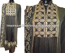 Ladies Stylish Readymade Cotton Kali Frock with Churidar Pajama / Trouser