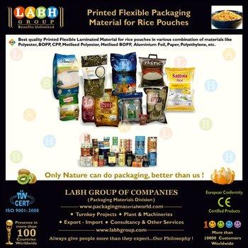 Printed Flexible Packaging Material for Rice Bag