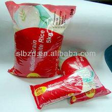 Bopp plastic 1kg,2kg,5kg rice bag with window show