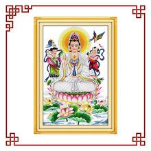 NKF Kwan-yin giving blessings(3) cross stitch