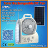 Solar Rechargeable Fan with 36 LEDs: SL1618-6BL (DC Power)