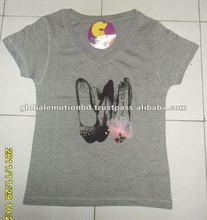 2012 fashion lady's t-shirts printing in Bangladesh