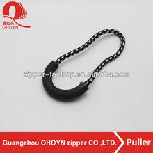 plastic zip pulls with snakeskin look metal,pulls for bags/handbag/purse/knapsack