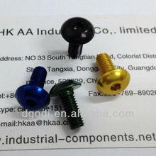 6061-t6 colored anodizing aluminum hex socket screw