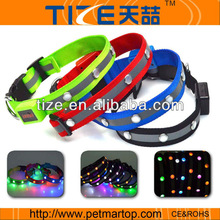 2014 new pet products round jeweled safety pet collar TZ-PET1002