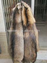 tanned raccoon dog real fur skin