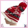 nuevo estilo de invierno de navidad de acrílico de punto sombreros bobble