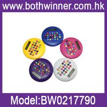 Hamburger style mini slim card solar power pocket calculator BW113
