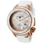 Swiss Legend Women's Neptune Ceramic Rose Gold Tone Case Silicone Watch