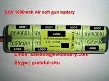 HOT// airsoft gun battery pack Ni-Mh 9.6V 1600mah ect