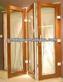 nouvelle conception de pliage de porte intérieure de pvc