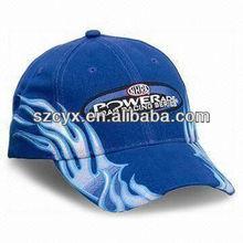 flames embroidery racing baseball hat cap headwear