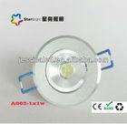 55mm 1W led celling light /1W led spot light/Epistar chip