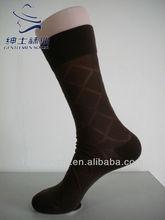 Argyle Thin Mens Nylon Socks