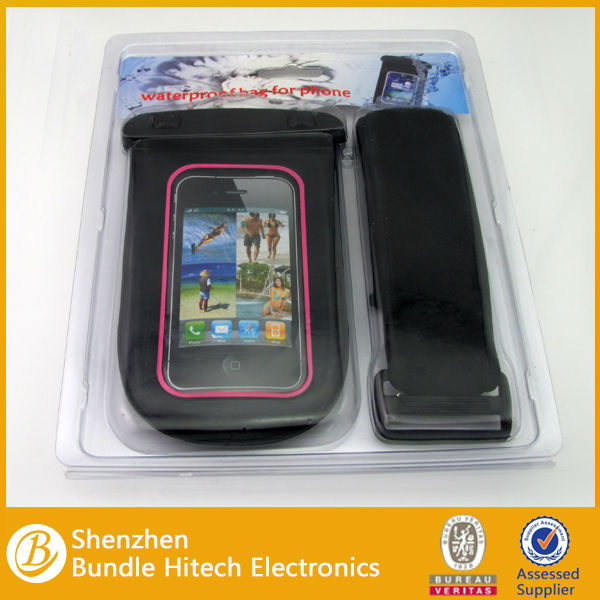 New PVC Waterproof Case Bag With Earphone for iPhone 4s iPod Touch and more smart phone