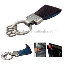 Blank leather key ring, leather fob key ring ,designs for key holders