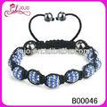 moda di cristallo sfera di amicizia ematite perle di shambhala macrame braccialetto