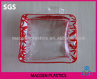 clear handle pvc stand up cosmetic case
