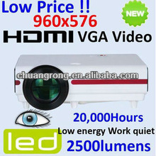 HD 960*576 Support 1080P Projector fot Home Cinema