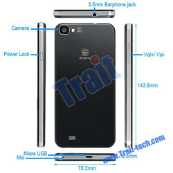Black/White ZOPO C2 MTK6589T 3G Smartphone Android 4.2 Quad-core 1.5GHz 5 Inch GSM WCDMA Wifi GPS Bluetooth4.0
