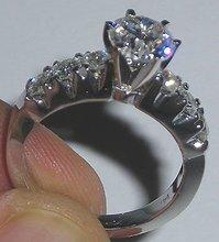 1.60 ct diamond ENGAGEMENT RING WHITE GOLD F VVS1