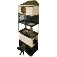 NEW Earth Tone Cat Tunnel Climber.Family Kitten Tower Furniture.Feline Toys.Pet.