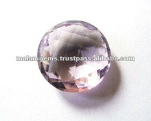 16 mm Natural Purple Amethyst Round Checker Board Cut