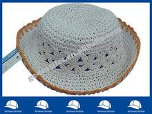 white bucket straw hat for children