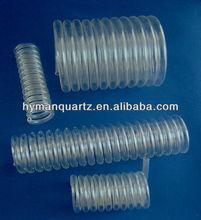 quartz glass pipe, water purifying Quartz Tube piping, helix quartz glass tube