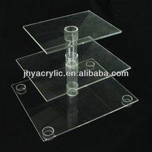 Contemporary beautiful acrylic cake display shelf