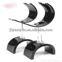 Innovative hot-sale black walnut acrylic shoe rack