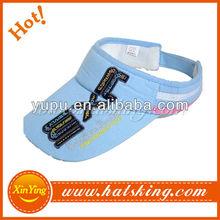 wholesale and custom blue foam visors for sun hats ladies
