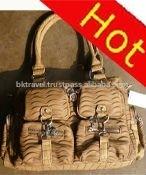 2012 crinkle fashion handbag many pocket many zipper women ladies handbag
