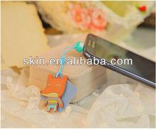 Hot Korean Cartoon Designs, 3.5mm Earphone Anti Dust Cap + Lovely Cleaner For iPhone / Samsung / Blackberry Phones