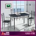 preço barato de madeira laca preta móveis sala de jantar conjuntos