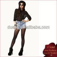 black sexy transparent long sleeve chiffon blouse 2013