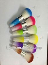 colorful makeup brush set,newset style glitter powder brush