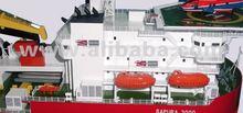 Brass Scale Model of Brass Scale Model of Pipe-laying Ship SAPURA 3000