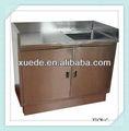 Comercial de acero inoxidable del gabinete de cocina con fregadero