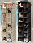16 Pockets Fabric Hanging Closet Organizer/closet hanging shoe organizer