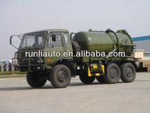 hubei runli auto speciali dongfeng 6x6 5000 litri militare AWD i camion delle acque reflue