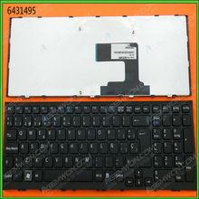 For sale new original laptop keyboard for SONY VPC-EL BLACK FRAME BLACK Layout Spanish computer keyboard