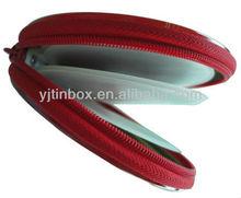 popular style 40pcs round zip CD/DVD tin box
