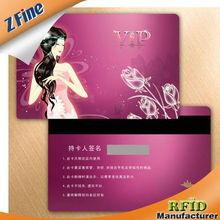 HOT!!!Shiny silver background Glossy varnish black plastic card /pvc busniess smart card